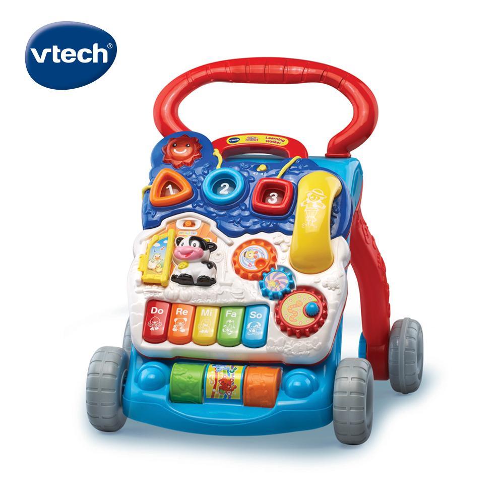 【Vtech】寶寶聲光學步車-紳士藍