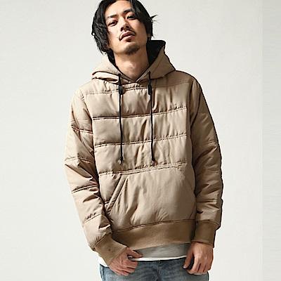 鋪棉套頭連帽外套(4色) ZIP日本男裝