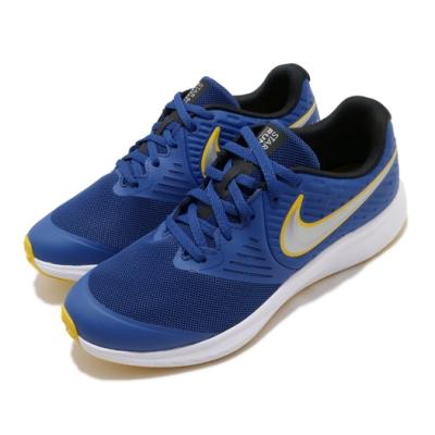 Nike 慢跑鞋 Star Runner 2 GS 大童鞋 女鞋 跑鞋 基本款 輕量 訓練 藍 黃 AQ3542404