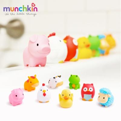 munchkin滿趣健-動物農場噴水洗澡玩具8入