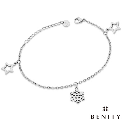 BENITY 星之雪 細緻手鍊 典雅款式 醫療級抗敏 白鋼 女手鍊