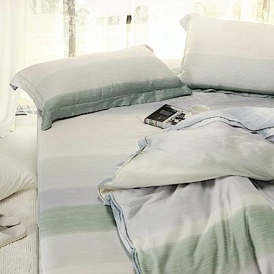 絲薇諾 60支天絲 十勝川 加大四件式-薄床包鋪棉被套組
