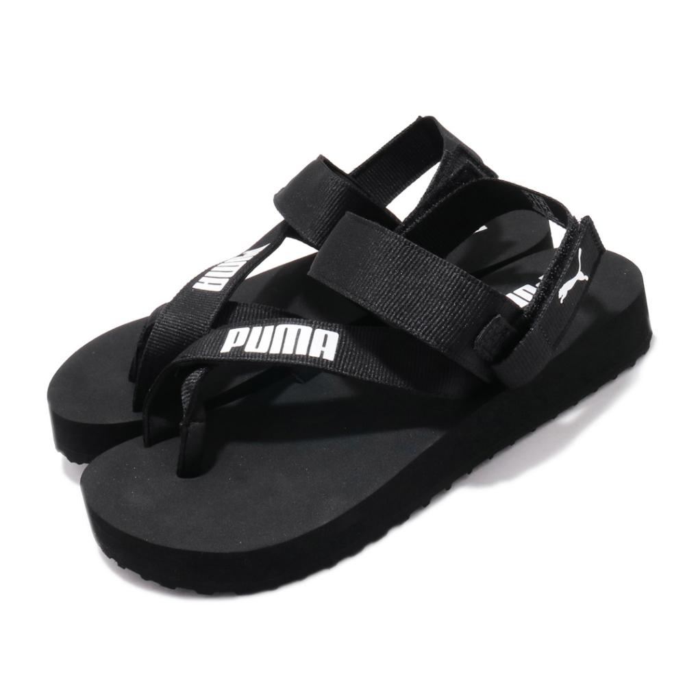 Puma 涼拖鞋 Summercat 套腳 穿搭 女鞋 基本款 輕便 夏日 可拆式後跟 簡約 黑 白 37483701