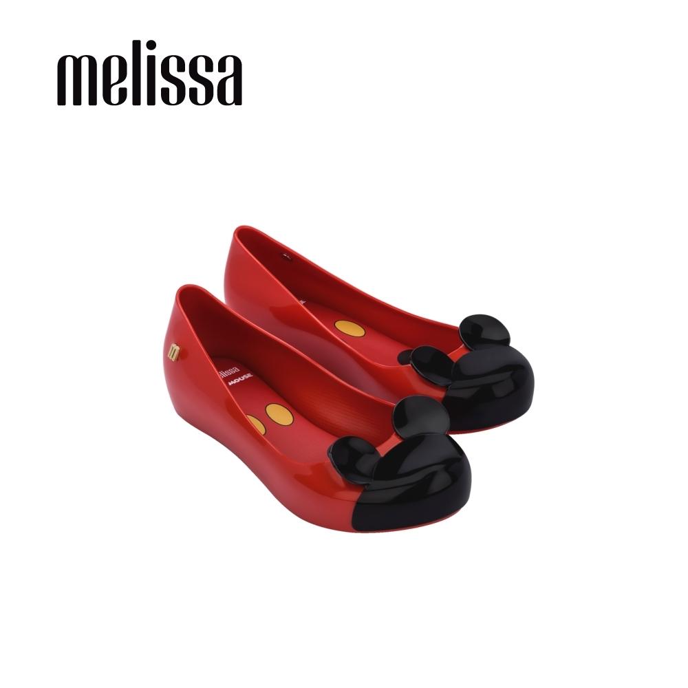 Melissa x MICKEY AND FRIENDS 蝴蝶結娃娃鞋 兒童款-紅