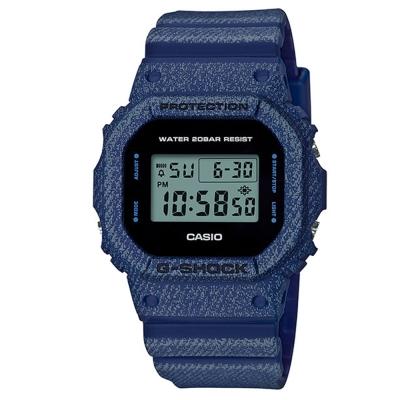 G-SHOCK 經典款丹寧系列布料元素設計休閒錶(DW-5600DE-2)42.8mm