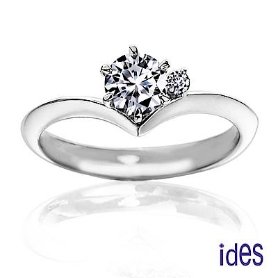 (無卡分期12期) ides愛蒂思 35分E/VVS1八心八箭完美車工鑽石戒指/唯一