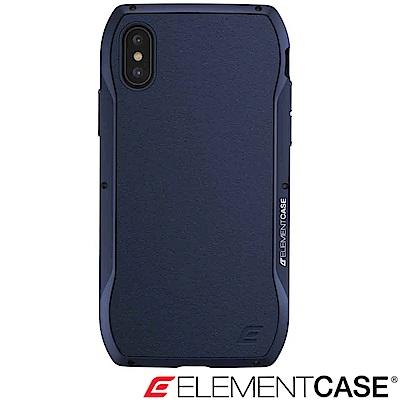 美國 Element Case iPhone XS / X Enigma旗艦真皮防摔殼-藍