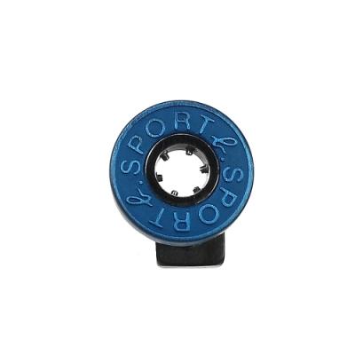 agnes b. - Sport b. 圓餅logo造型貼耳式單耳耳環(中性)(藍)