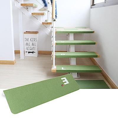 半島良品 加長版夜光樓梯止滑墊1入- 字母E 綠色