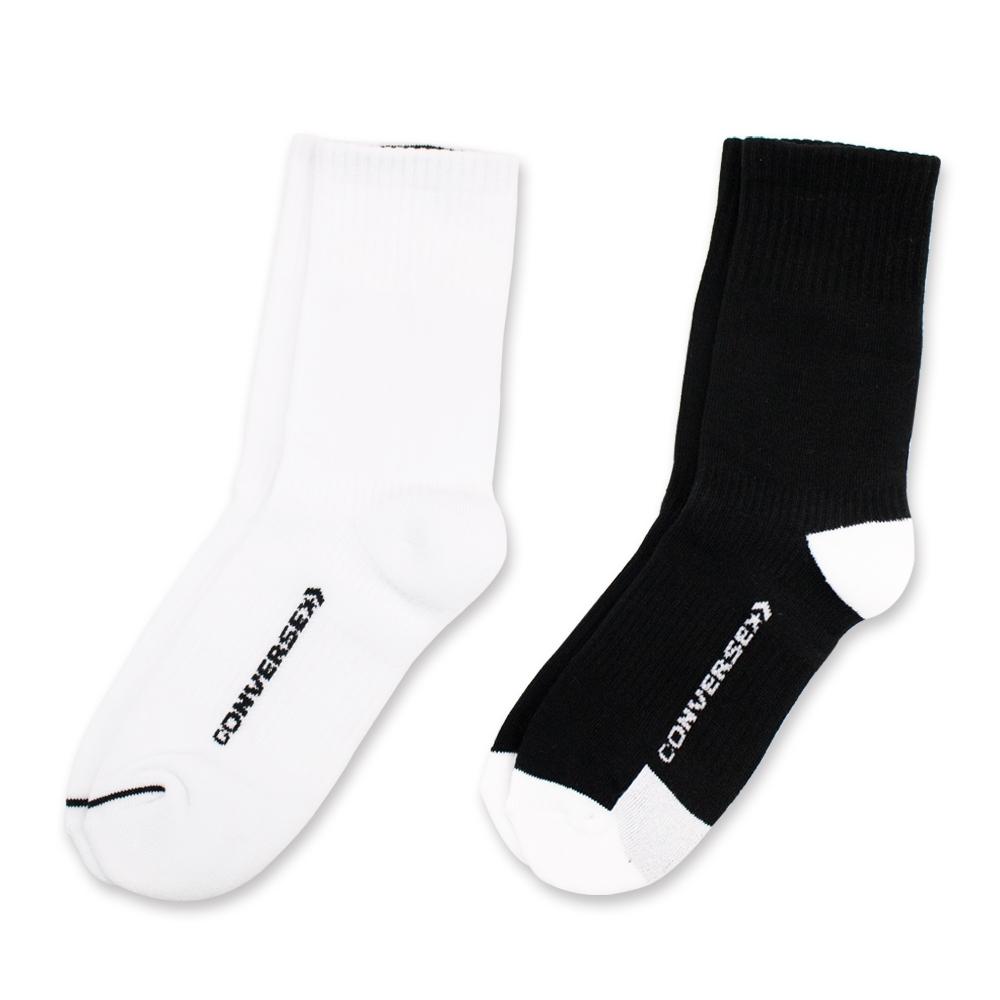 CONVERSE 中筒襪 二入組 (白黑) 10007290-A01