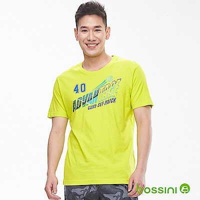 bossini男裝-印花短袖T恤12草綠