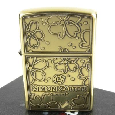 ZIPPO 日系~ZIPPO x SIMON CARTER-英國袖扣品牌打火機(銅燻黑款)