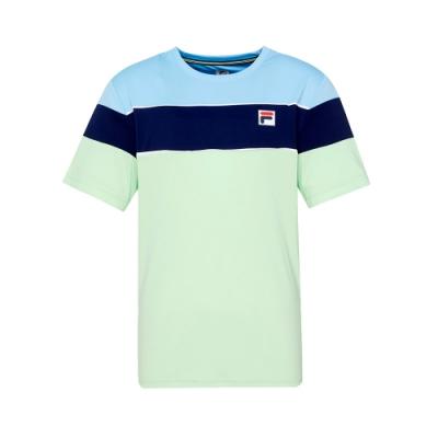 FILA 男短袖圓領T恤-淺綠 1TET-5012-LN