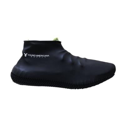 Y.A.S 美鞋神器 矽膠防水雨鞋套-黑