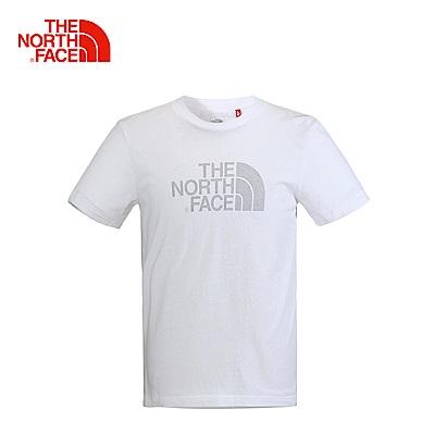 The North Face男款白色靈活舒適短袖T恤