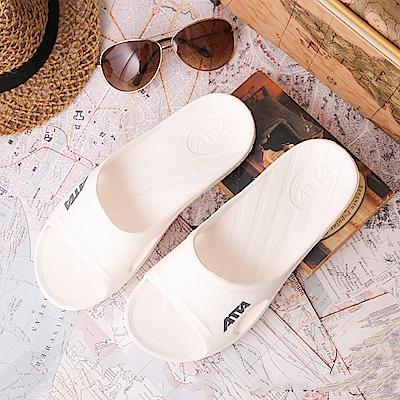 ATTA 運動風簡約休閒拖鞋-白色