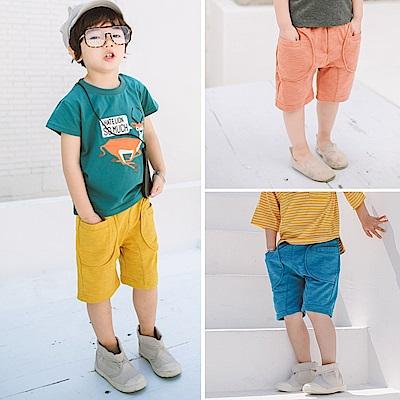 小衣衫童裝    兒童竹節棉針織五分短褲1070426