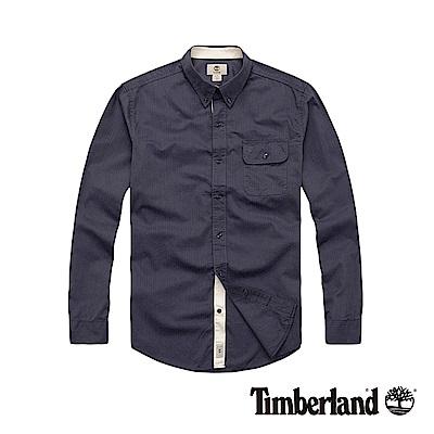 Timberland 男款灰色長袖休閒襯衫|A12NP