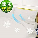 La Veda 瞬涼隔熱涼感枕套2入-天使白