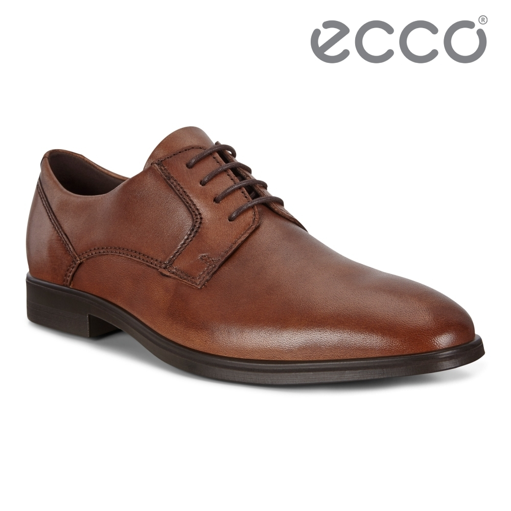 ECCO QUEENSTOWN 英倫商務正裝皮鞋 網路獨家 男鞋 琥珀棕
