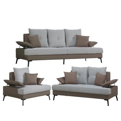 文創集 蒂岡  時尚雙色可拆洗棉麻布獨立筒沙發椅組合(1+2+3人座)-208x87x92cm免組