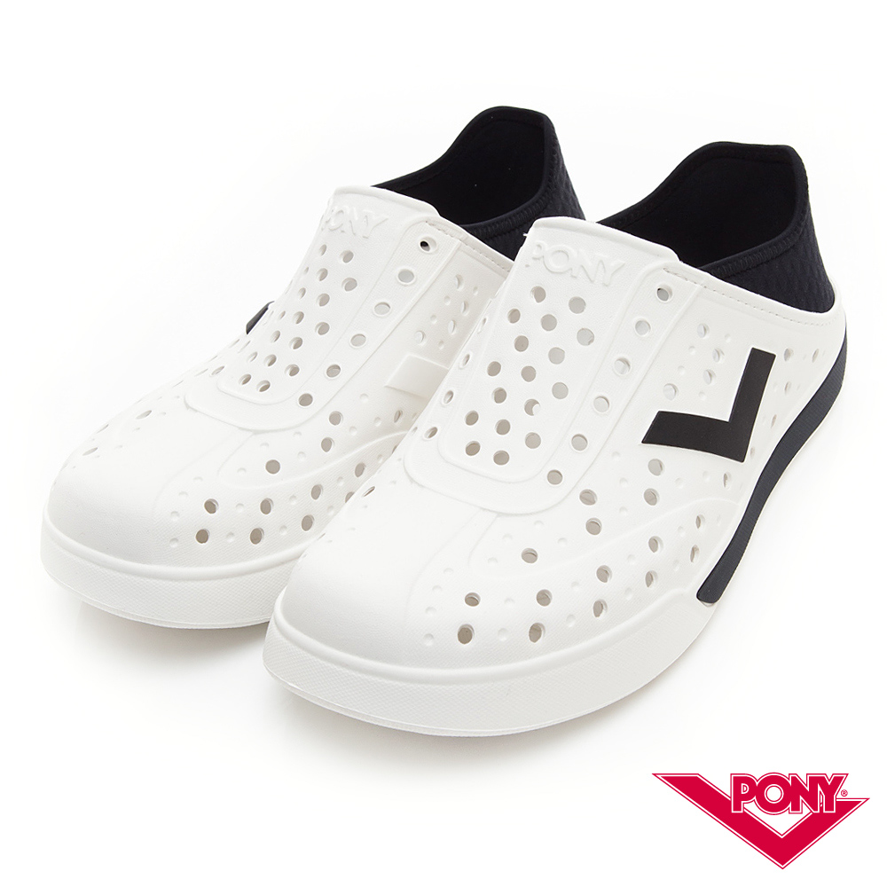【PONY】ENJOY明星款洞洞鞋 踩後跟 涼鞋 拖鞋 中性 黑