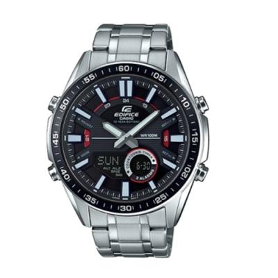 CASIO卡西歐 狂野致命計時碼錶雙顯男腕錶(EFV-C100D-1A)-黑x46mm
