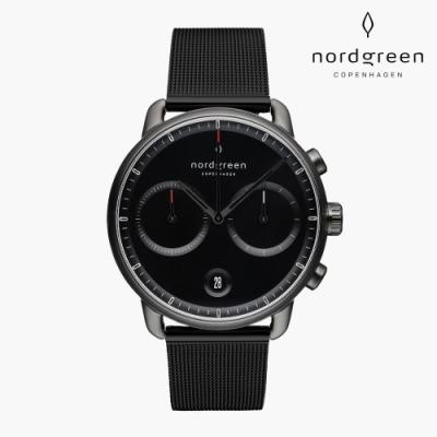 Nordgreen Pioneer 先鋒 深空灰系列 極夜黑鈦鋼米蘭錶帶手錶 42mm