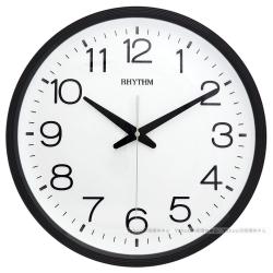 RHYTHM日本麗聲 現代簡約高CP值超靜音壁掛鐘-沉靜黑/36cm