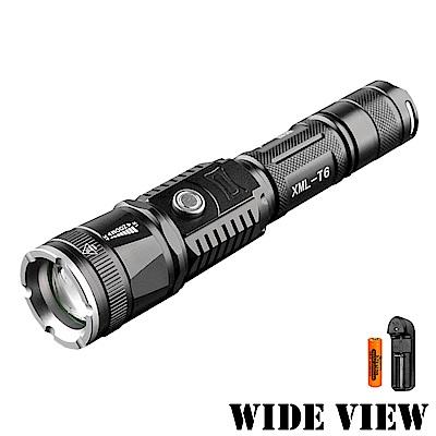 【WIDE VIEW】充/供兩用T6強光遠距手電筒組(NTL-S6-AT)