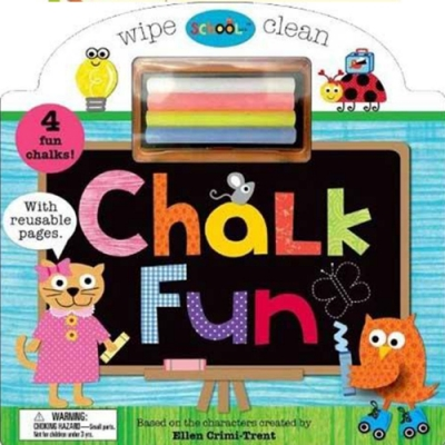 Schoolies:Wipe Clean Chalk Fun 粉筆塗鴉趣硬頁書(美國版)