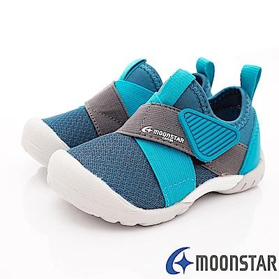 日本Carrot機能童鞋 2E撥水加工襪套款 TW2187綠(中小童段)