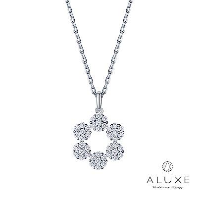 A-LUXE 亞立詩 18K金雪花鑽石項鍊
