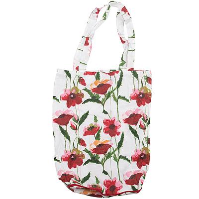 CreativeTops 摺疊購物袋(水彩罌粟)