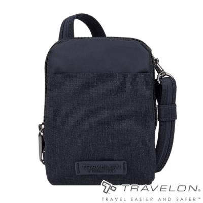 【Travelon美國防盜包】METRO休閒旅遊隨身小型斜肩包/側肩包TL-43417深藍