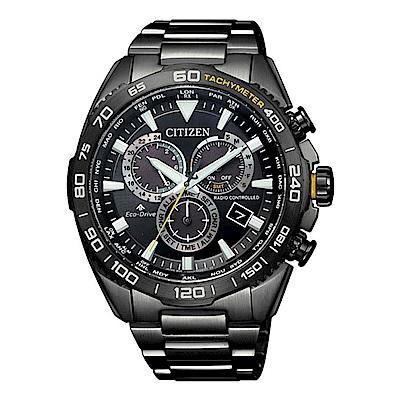 CITIZEN 星辰PROMASTER 專業電波計時潛水腕錶-黑CB5037-84E
