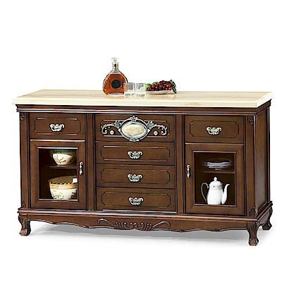 AS-山姆白金龍碗盤櫃-160x45x90cm