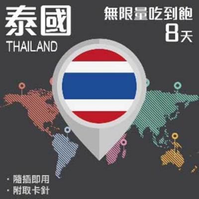 【PEKO】加送卡套 泰國上網卡 8日高速4G上網 無限量吃到飽 優良品質