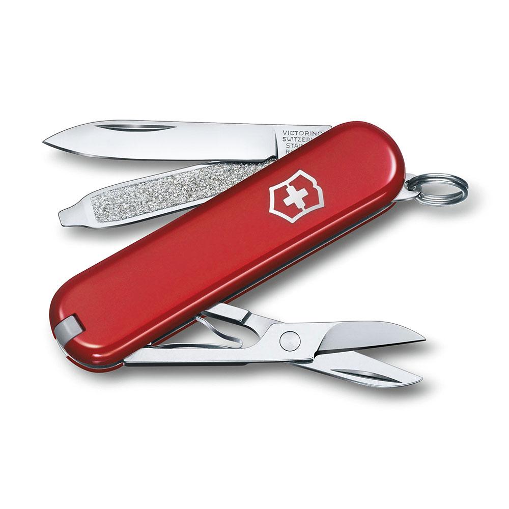 VICTORINOX瑞士維氏 58mm 迷你7用瑞士刀/工具刀/鑰匙圈-經典紅
