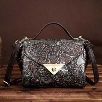 米蘭精品 手提包真皮肩背包-高貴復古英倫時尚女包情人節生日禮物3色73my17