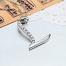 米蘭精品 925純銀項鍊-時尚簡約L英文字母