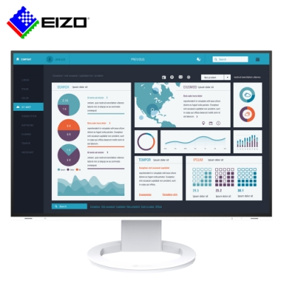 EIZO FlexScan EV2495 白色 24吋/多訊號輸入/薄邊框/低閃頻護眼16:10寬螢幕