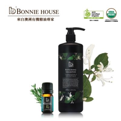 Bonnie House 忍冬精油養護洗髮精 1000ml+迷迭香精油5ml