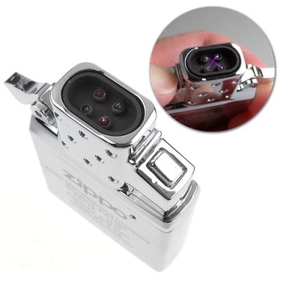 ZIPPO 防風雙電弧機芯-雙擊按鈕點火-USB充電