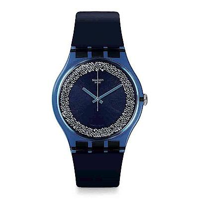 Swatch THINK FUN系列 BLUSPARKLES 藍夜星空手錶