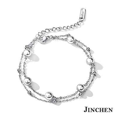 JINCHEN 白鋼珍珠手鍊