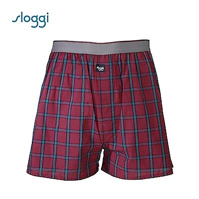 sloggi men Vacation系列寬鬆平口褲 暗紅色 G918718 R5