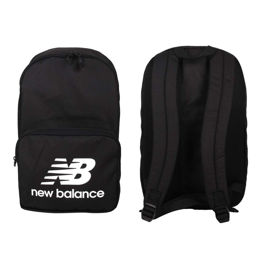 NEWBALANCE 後背包-NB 雙肩包 肩背包 BG03208GBKW 黑白