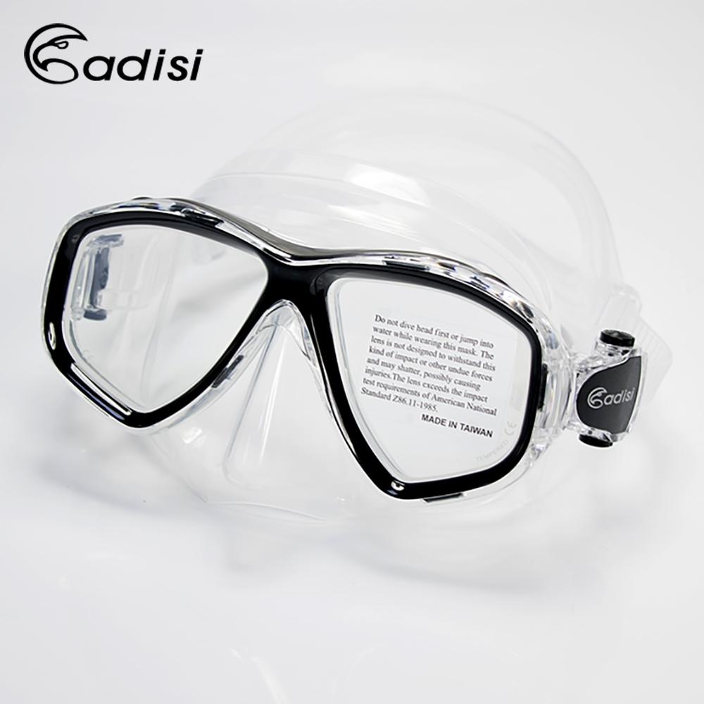 ADISI WM21 雙眼面鏡 透明/黑色框(蛙鏡、浮潛、潛水、戲水、泳鏡、潛水面鏡)