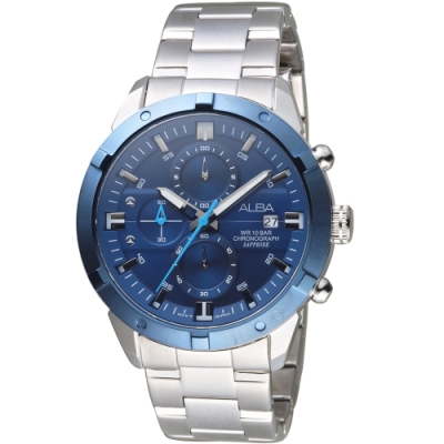 ALBA雅柏時尚潮流計時腕錶(VD57-X174B AM3753X1)